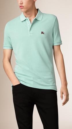 Burberry - Cotton Piqué Double Dyed Polo Shirt