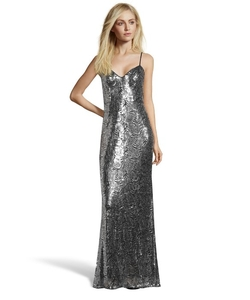 Hayden - Sequined Mesh Lace Evening Gown