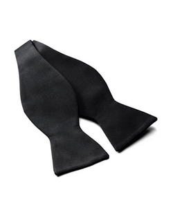 David Donahue  - Solid Satin Self-Tie Bow Tie