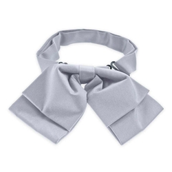 Tiemart - Light Steel Floppy Bow Tie