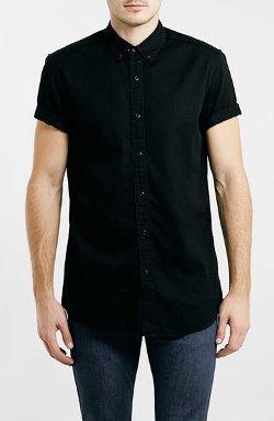 Topman  - Short Sleeve Twill Shirt