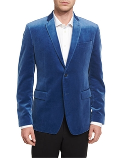 Versace Collection  - Velvet Two-Button Jacket