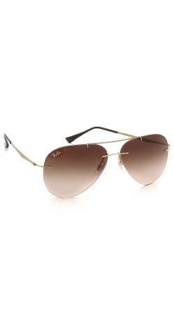 Ray-Ban  - Light Tech Aviator Sunglasses
