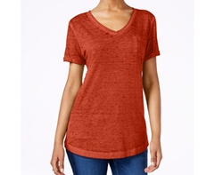 Style&Co. - V-Neck Burnout T-Shirt