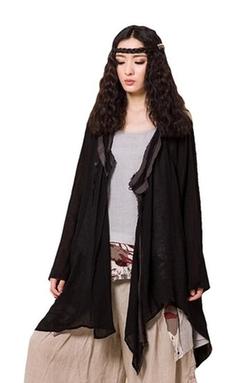 Jiqiuguer - Vintage Linen Long Sleeve Cardigan
