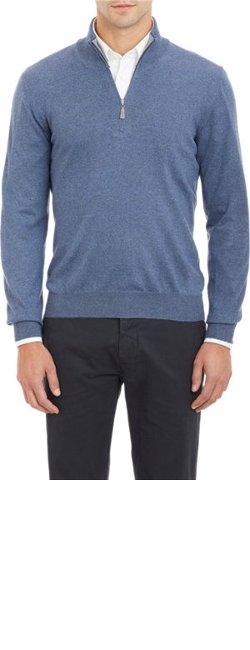 Barneys New York  - Half-zip Sweater