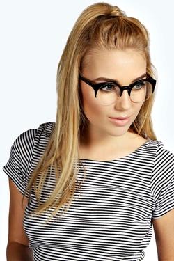 Boohoo - Leah Clear Lense Sunglasses