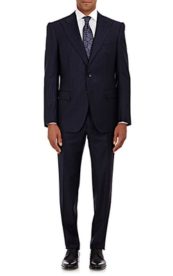 Cifonelli  - Striped Twill Two-Button Suit
