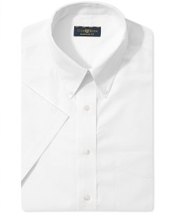 Club Room  - Solid Short-Sleeve Dress Shirt