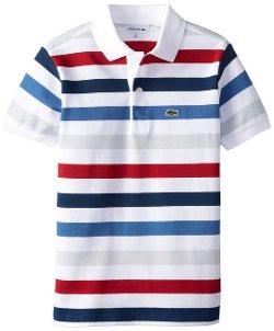 Lacoste  - Short-Sleeve Multi-Stripe Polo Shirt