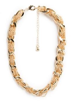 Mango - Intertwined Chains Choker Necklace