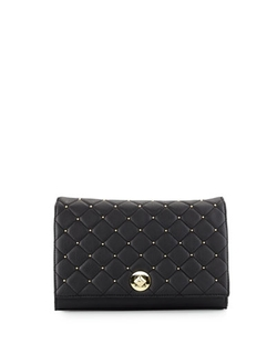 Neiman Marcus  - Quilted Stud Clutch Bag