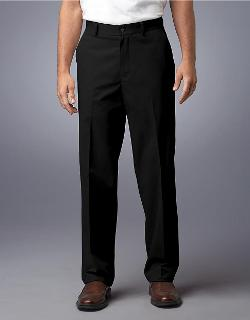 Black Brown 1826 - Flat-Front Supima Cotton Pants