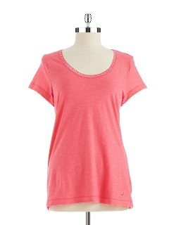 Nautica  - Scoop Neck T-Shirt