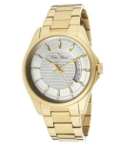 Lucien Piccard  - Excalibur Gold-Tone Stainless Steel Silver-Tone Dial