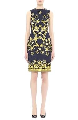 Versace Collection - Star Print Neoprene Sheath Dress
