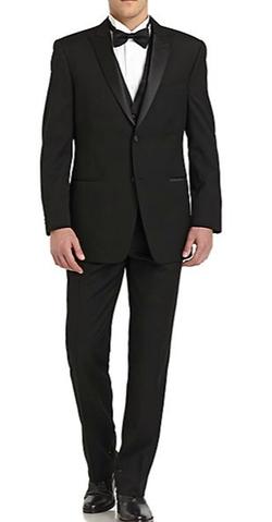Ike Behar - Classic-Fit Wool Satin Peaked-Lapel Tuxedo