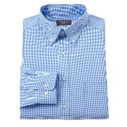 Dockers -  Fitted Checked No-Iron Button-Down Collar Dress Shirt