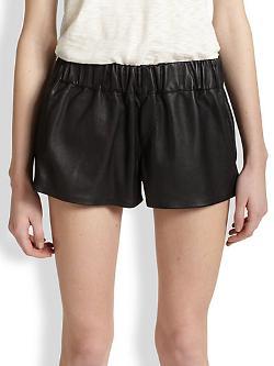 Rag & Bone - Leather Shorts