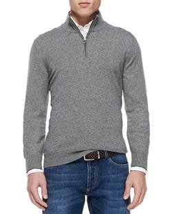 Brunello Cucinelli  - Cashmere Half-Zip Sweater
