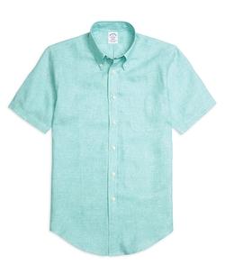 Brooks Brothers - Linen Short-Sleeve Sport Shirt