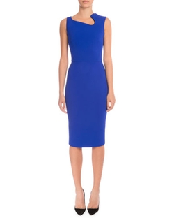 Victoria Beckham - Asymmetric-Neck Sheath Dress