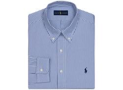 Polo Ralph Lauren  - Pinpoint Oxford Blue Stripe Dress Shirt