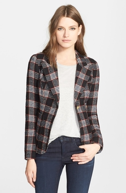 Smythe - Plaid Wool Blend Blazer