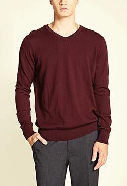 Forever 21 - Lightweight V-Neck Sweater