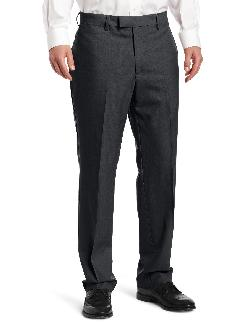 Louis Raphael - LUXE 100% Wool Solid-Colored Modern-Fit Flat-Front Dress Pant