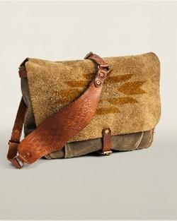 Ralph Lauren - Hand-Stenciled Suede Mailbag