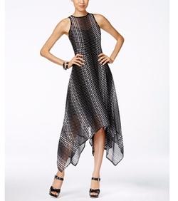 MICHAEL Michael Kors - Arailia Printed Handkerchief-Hem A-Line Dress