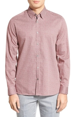 Ted Baker London  - Shakeit Modern Slim Fit Leaf Print Sport Shirt