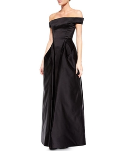 Zac Posen - Off-The-Shoulder Satin Gown