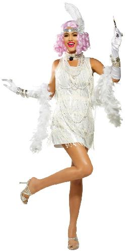 Costume Craze - White Snazzy Flapper Costume