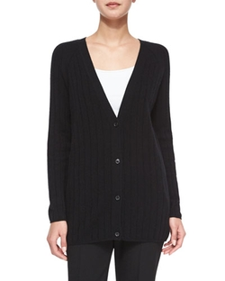Theory  - Petrovina Ribbed Long-Sleeve Cardigan