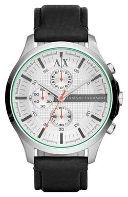 AX Armani Exchange - Chronograph Leather Strap Watch