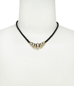 Jessica Simpson - Black and Two-Tone Rondelle Necklace