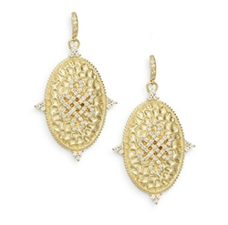 Freida Rothman - Hammered Love Knot Oval Earrings