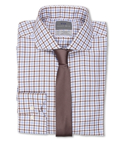 Thomas Dean & Co.  - Twill Multi Check Non-Iron Woven Dress Shirt