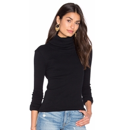 Enza Costa - Cashmere Rib Long Sleeve Turtleneck Top
