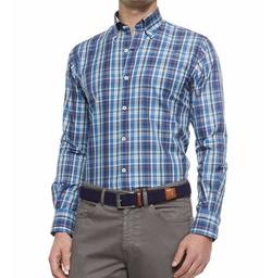 Peter Millar - Plaid Long-Sleeve Sport Shirt