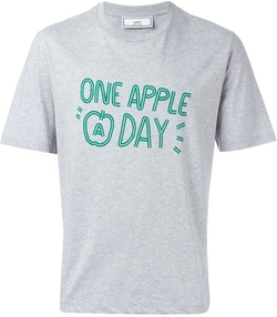 Ami Alexandre Mattiussi - Apple print T-shirt