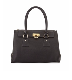 Salvatore Ferragamo  - Lotty Medium Leather Satchel Bag