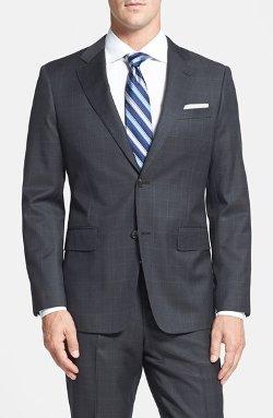 John W. Nordstrom - Classic Fit Windowpane Wool Suit