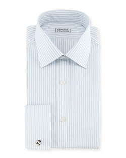Charvet - Shadow Striped French-Cuff Dress Shirt