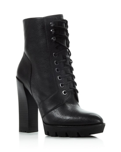 Kenneth Cole  - Oaks Lace Up High Heel Booties