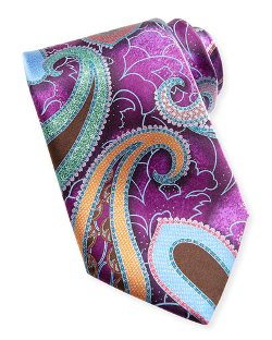 Ermenegildo Zegna   - Quindici Large-Paisley Silk Tie