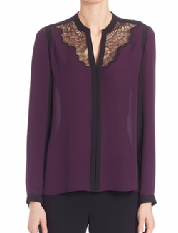 Elie Tahari - Denise Colorblock Silk Blouse