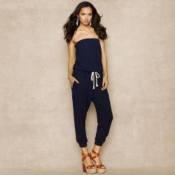 Ralph Lauren Blue Label - Striped Strapless Jumpsuit